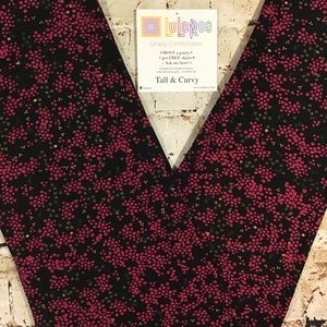 Leggings LuLaRoe TC Black & Cranberry New In Pkg